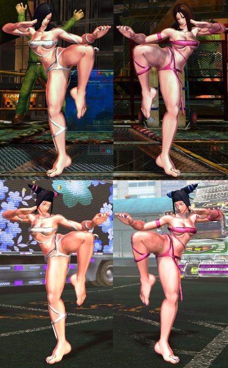 SFxT Mod - Juri: Mileena's Flesh Pit Costume by Segadordelinks