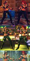 USF4 Mod - Crimson Viper: Sonya Blade Cosplay