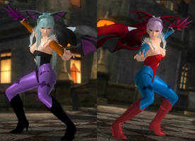 DoA5 Mod: Nyotengu: Morrigan and Lilith by Segadordelinks