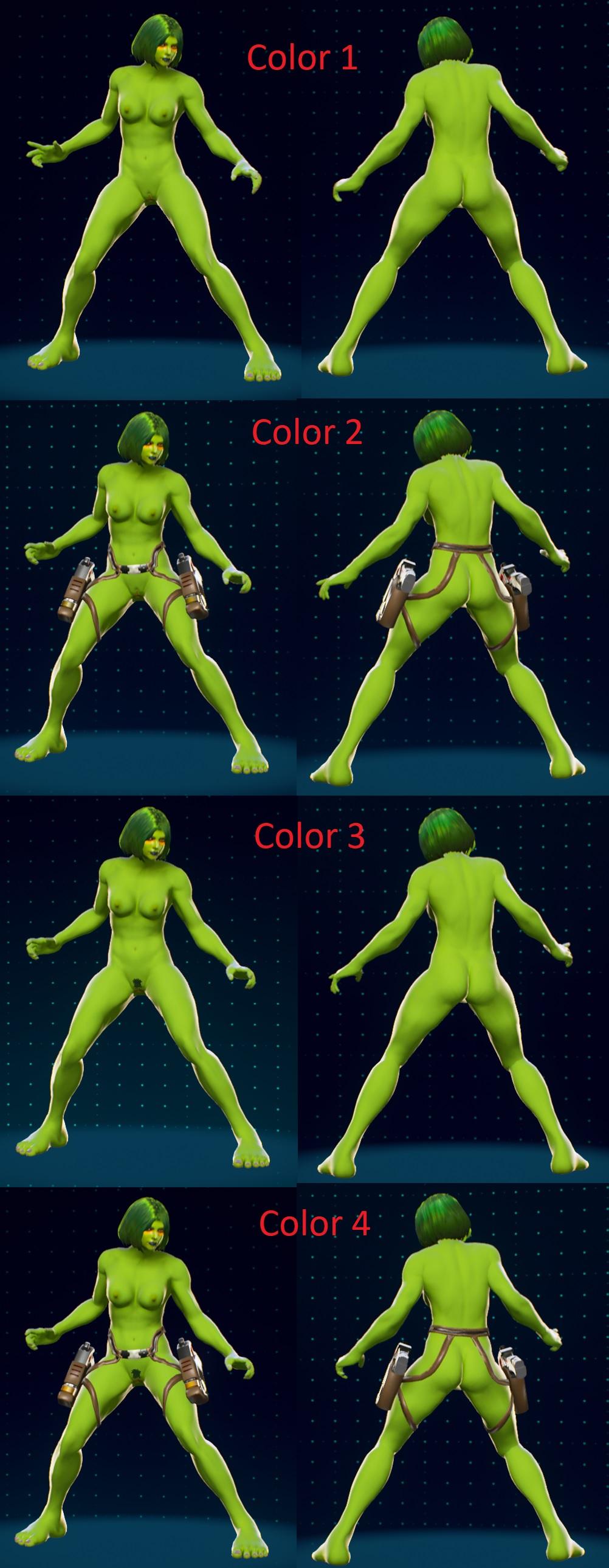 Naked gamora 3D model