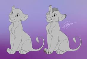 Lion Cub Base - free .psd by EmilyJayOwens