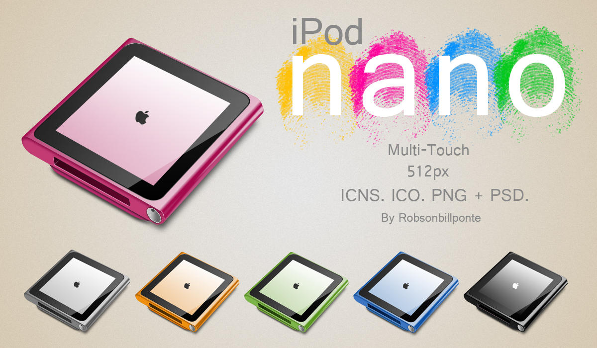 iPod nano Multi-Touch + PSD. by Robsonbillponte666 on ...