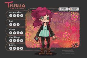[PM2013] TRISHA Paper-Doll (Flash Dress Up Game) by papelmarfil