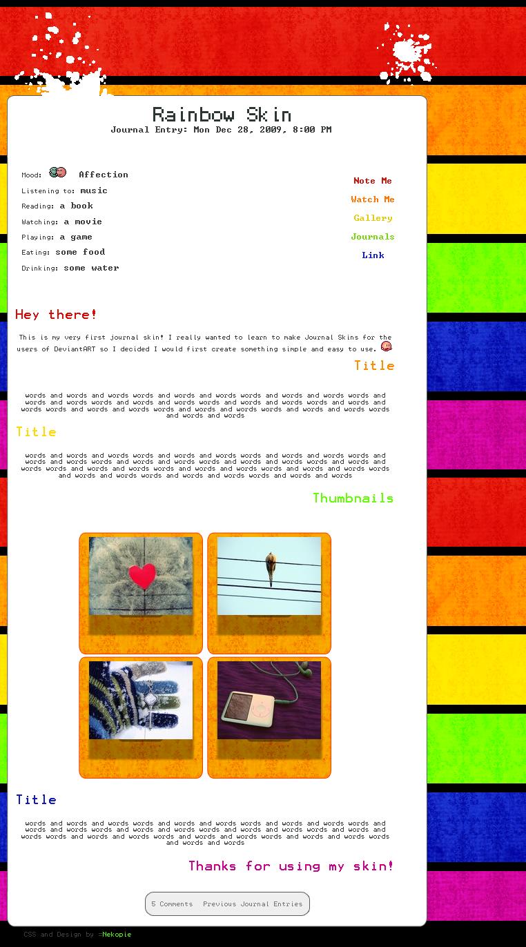 Rainbow Journal Skin by Nekopie