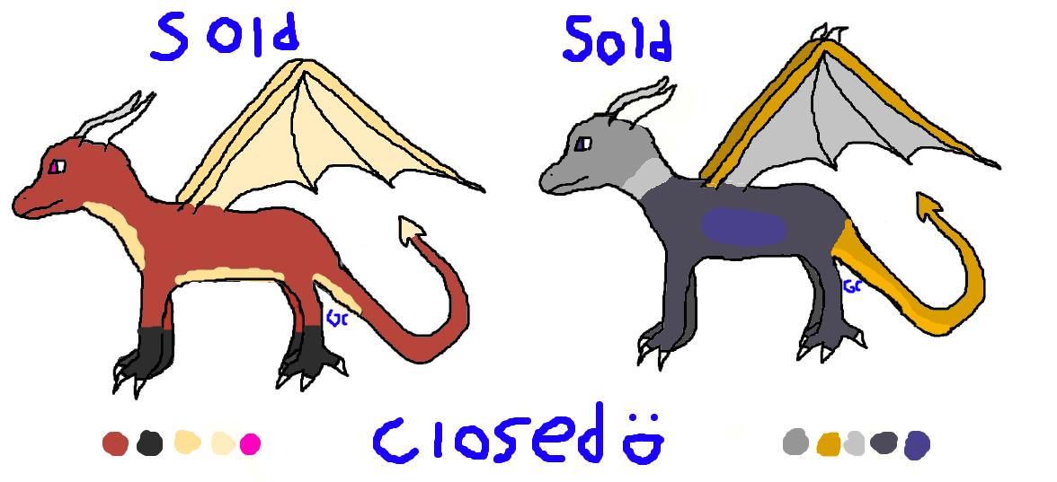 Cheap Dragon Adopts CLOSED by gruffenblue
