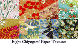 Chiyogami paper texture pack