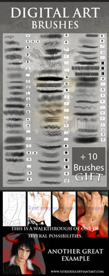 Digital Painting brushes by h-leao