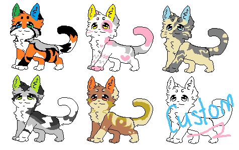5 points cat adoptables (+ Custom) by Larkflame