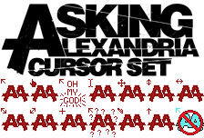 Asking Alexandria Cursor Set by LunarTheUmbreon