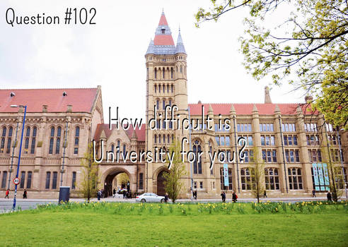 Question #102:How difficult is University for you?