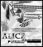 Alice Inspired Brushes by pumpkinx0