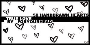 50 Heart Brushes by pumpkinx0