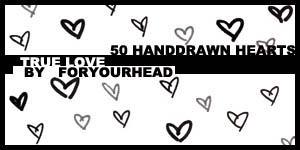 50 Heart Brushes