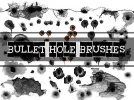 BULLET HOLE GIMP BRUSHES by MaxPowersXx