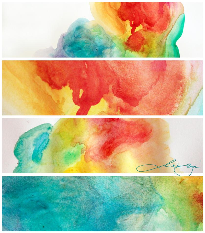 large watercolor textures by mirtek