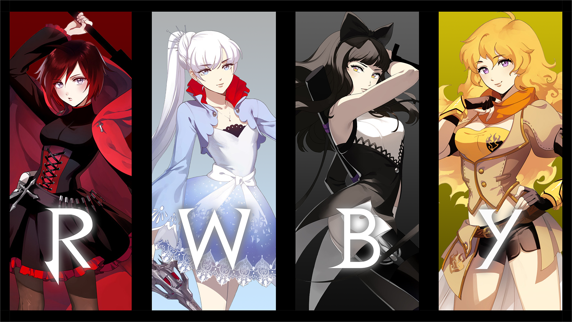 Best of the Best ducky. Rwby_silhouettes_wallpaper_pack__final_release__by_nightmaredude456-d6056wz