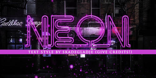 Text style - Neon