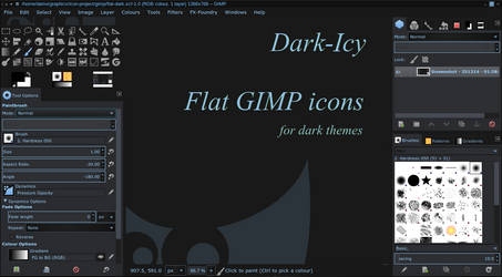Flat Icons for GIMP: Dark-Icy