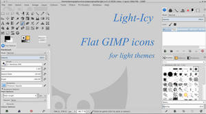 Flat Icons for GIMP: Light-Icy by capn-damo