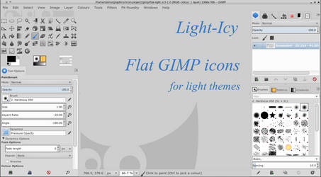 Flat Icons for GIMP: Light-Icy