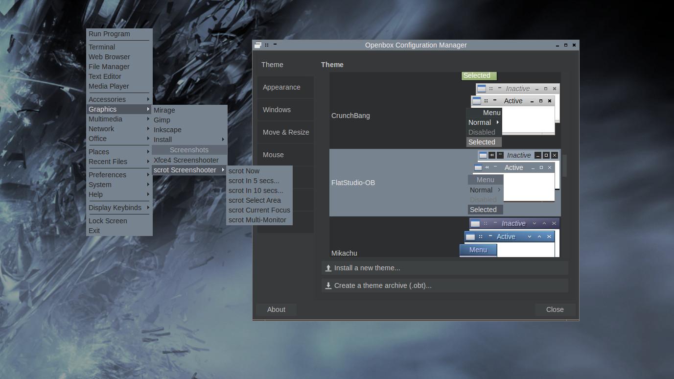 Openbox theme for FlatStudio GTK