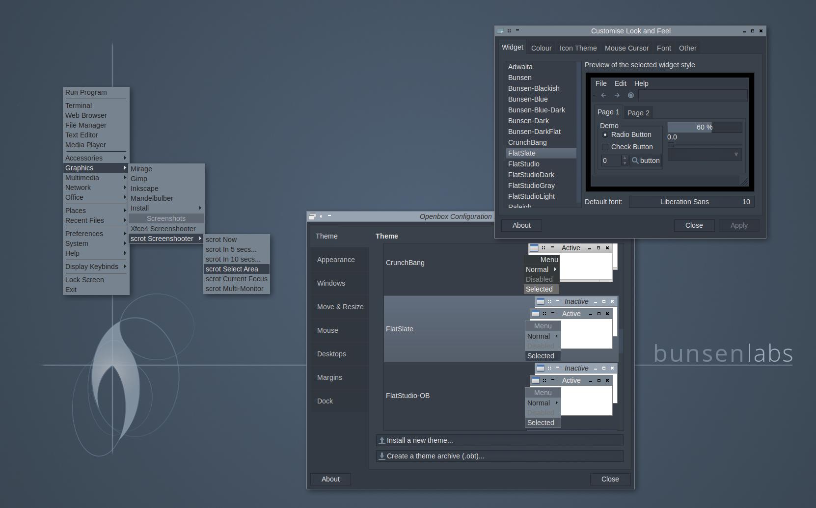 FlatSlate Openbox/GTK theme by capn-damo