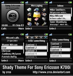 Shady for Sony Ericsson K700i by zrco
