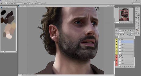 Digital Painting Tutorial - SHORT BEARD