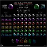 Black Pearl Dock Icons Set