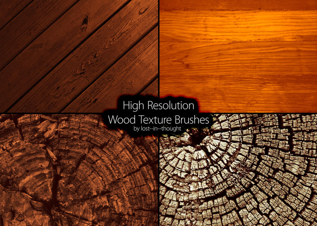 Hi-Res Wood Brush Set by lost--in--thought