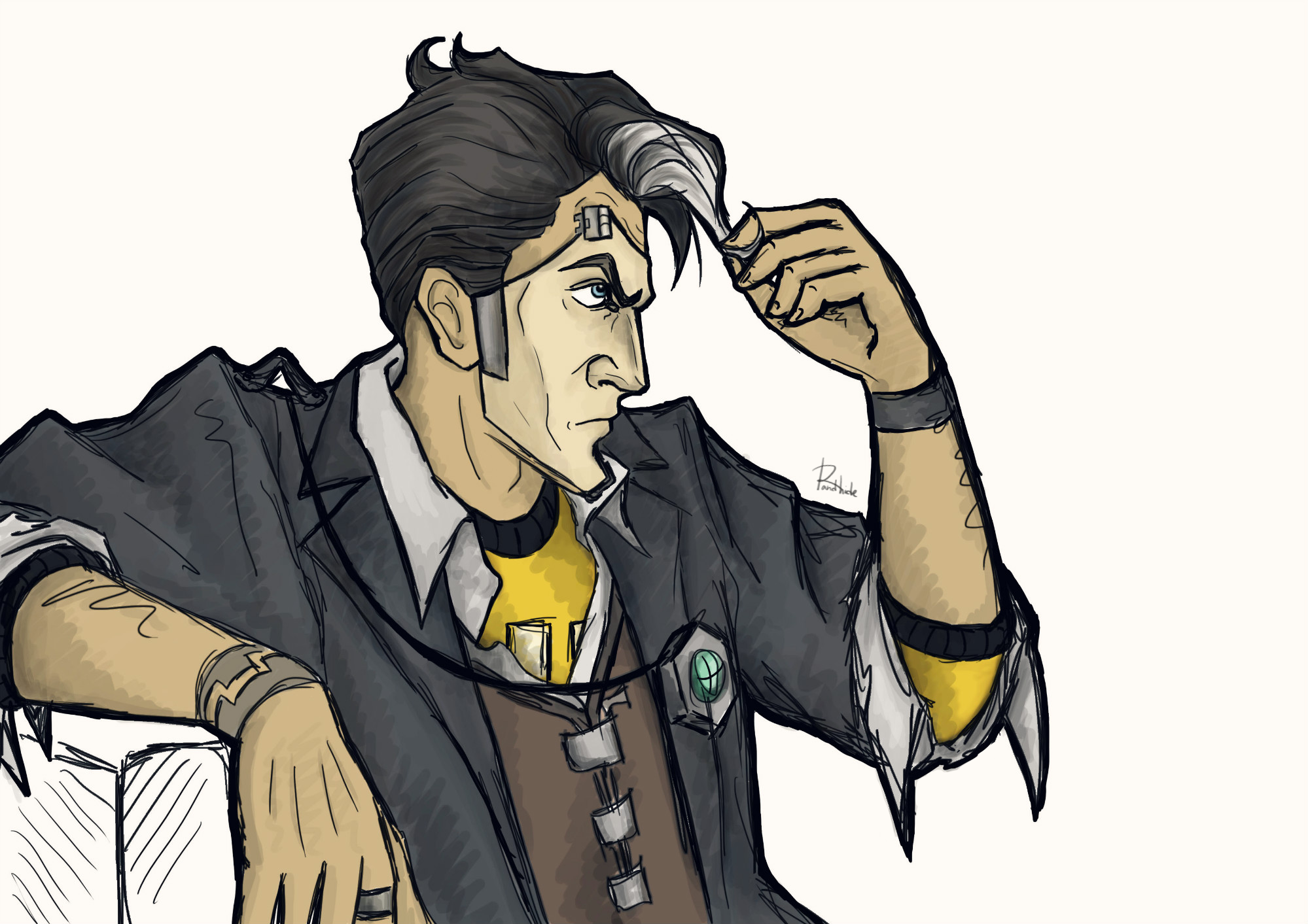 Handsome Jack By Run1and1hide On Deviantart