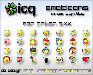 Emoticons from ICQ4 by dzdezign