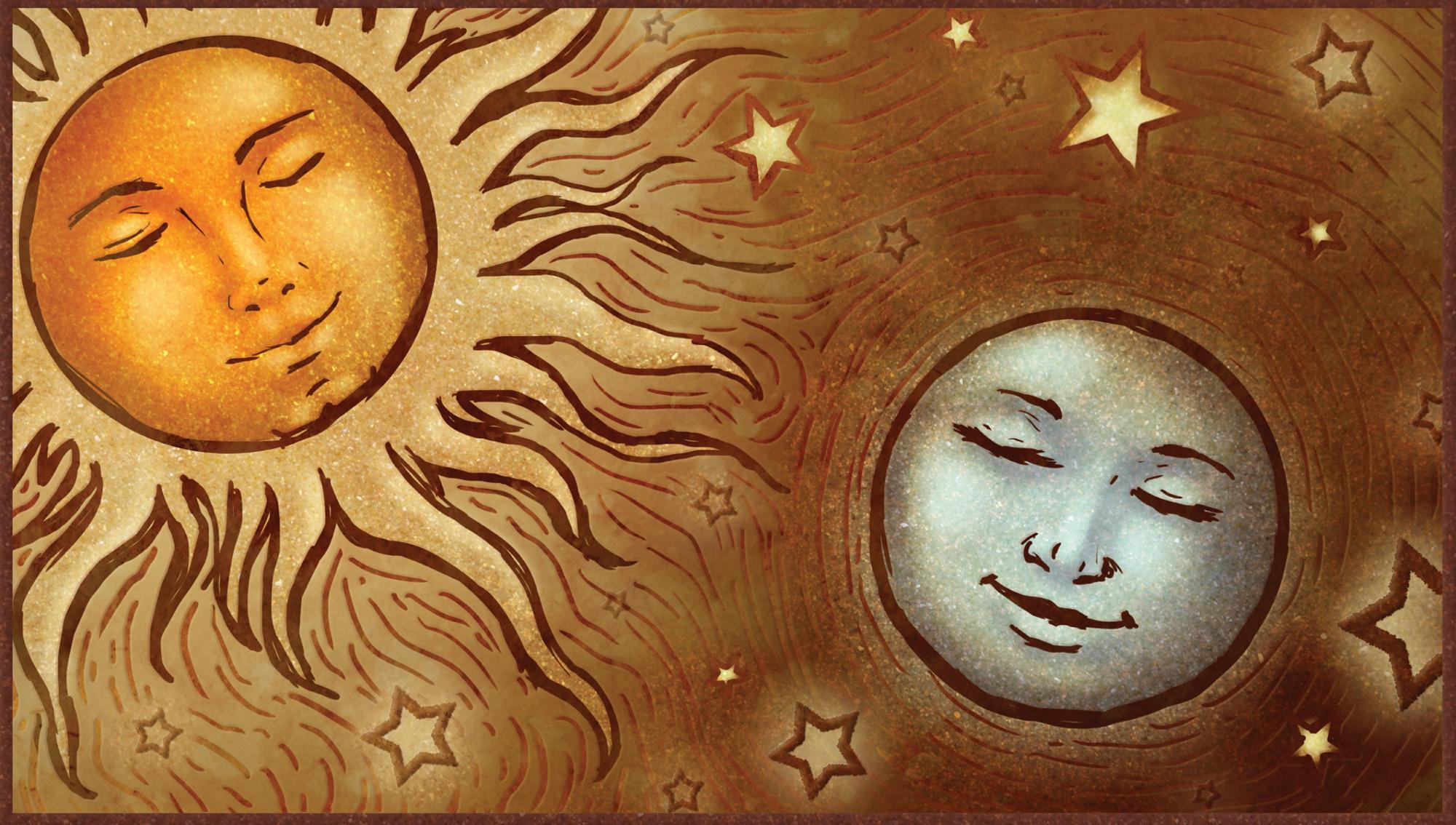 Wedding Invitation- The Sun and The Moon