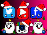 Christmas social networks by Nehimy