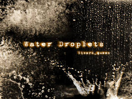 Water Dropplets - Brush by lizard--queen