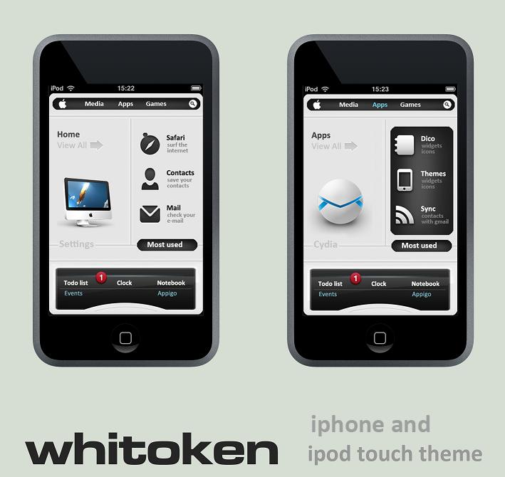 whitoken ipod touch 3.0 theme