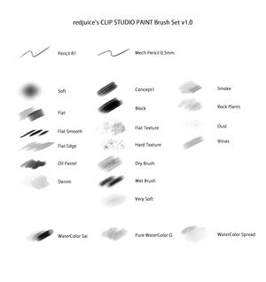 redjuice's Brush Set for CLIP STUDIO PAINT