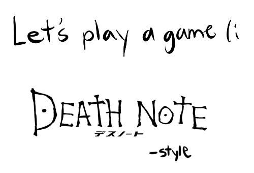 Death Note Mafia Game By Iyka On Deviantart