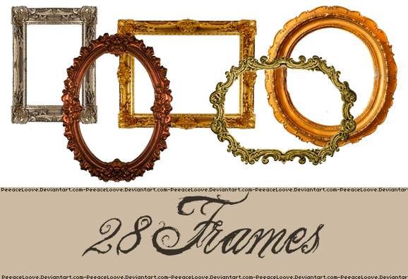 PNG pack frames by PeeaceLoove on DeviantArt