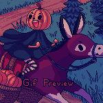 Pumpkin thief (pixel art)