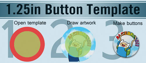 1.25in Button Template by starfishey