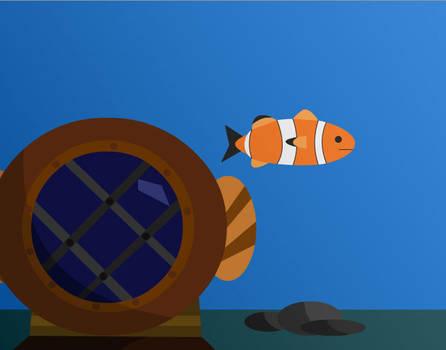 Shy clown fish