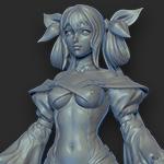 Dizzy-WIP- bodySculpt grey spin by FunkyBunnies