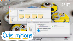 Cute Minions-Iconpackager Theme