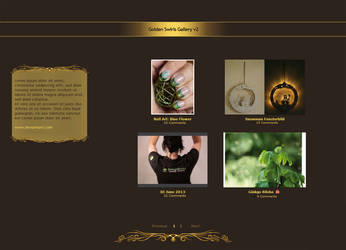 .: Golden Swirl Gallery
