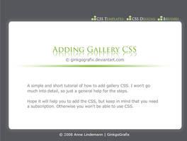 .:Adding Gallery CSS