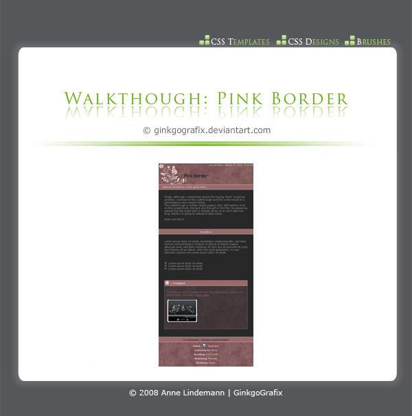 .:Walkthrough Pink Border by ginkgografix