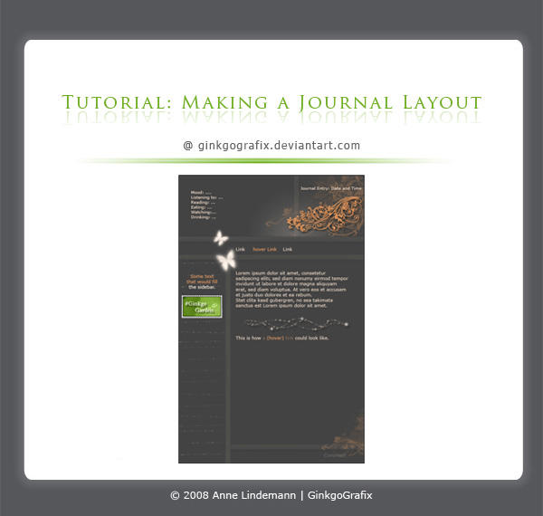 .:Making a journal layout by ginkgografix