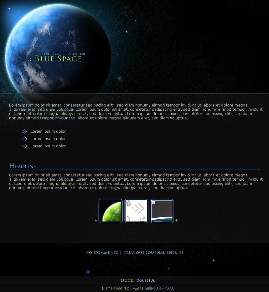 .:Blue Space by ginkgografix