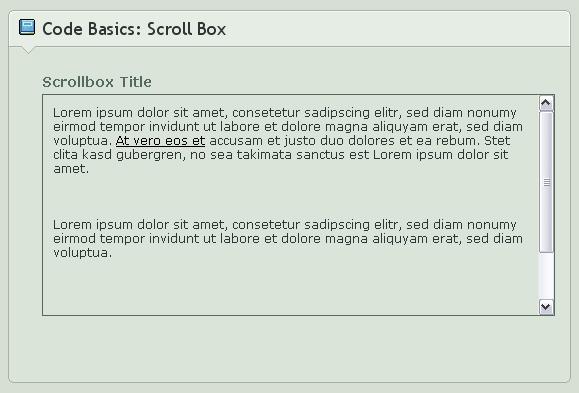 .:Code Basics: Scroll Box by GinkgoWerkstatt